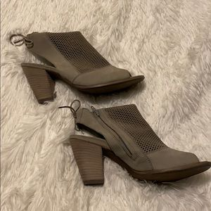 Paul Green Grey Bootie Open Toe 6.5/9M